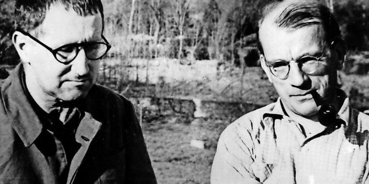 Bertolt Brecht und Günther Weisenborn