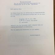 Kommunalwahl 20.10.1968 - Einladung Blatt I, 1968