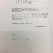 Ergebnis der geheimen Wahl - Blatt II, 1968